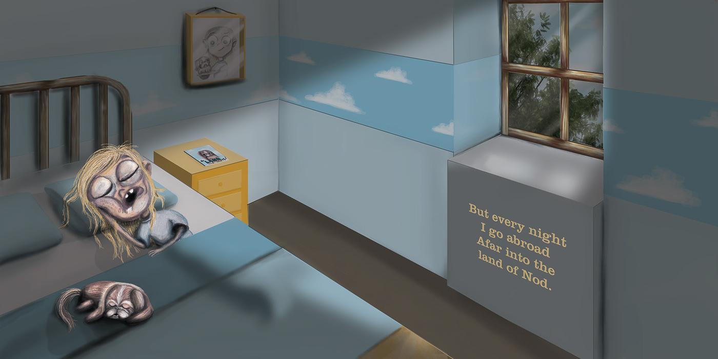 ILLUSTRATION ,childrens book,digital painting,creative development,Pekingese,Drawing ,character development