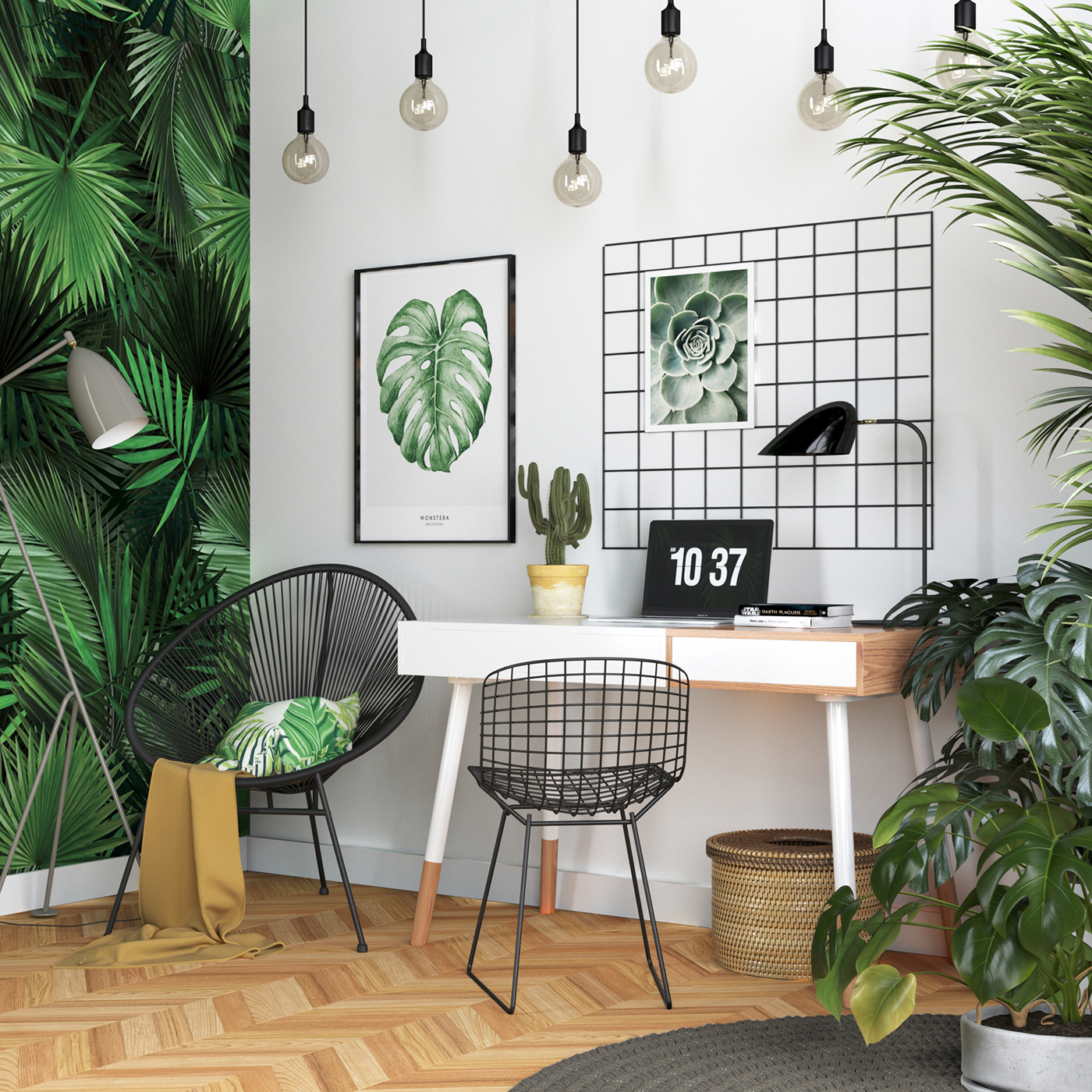 Tropical interior on behance