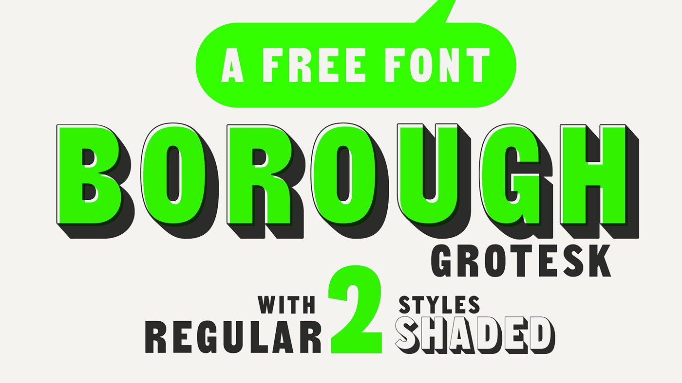 Borough Grotesk | Free Typeface on Behance
