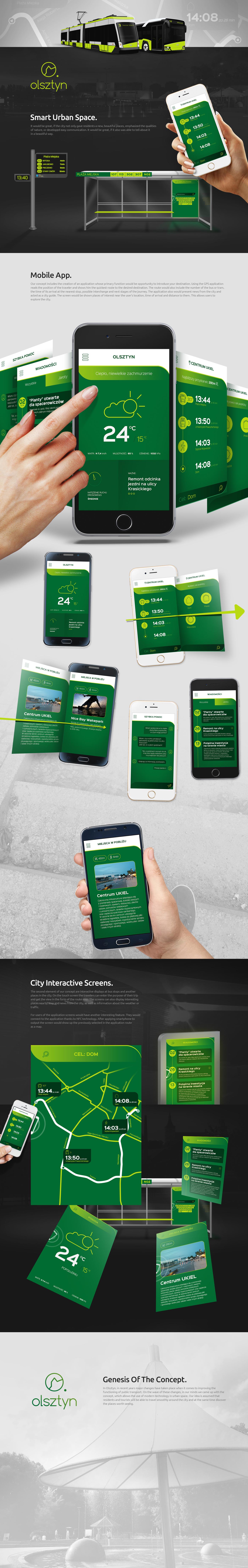 olsztyn bus stop Urban Mobile app city app communication tram bus citizens