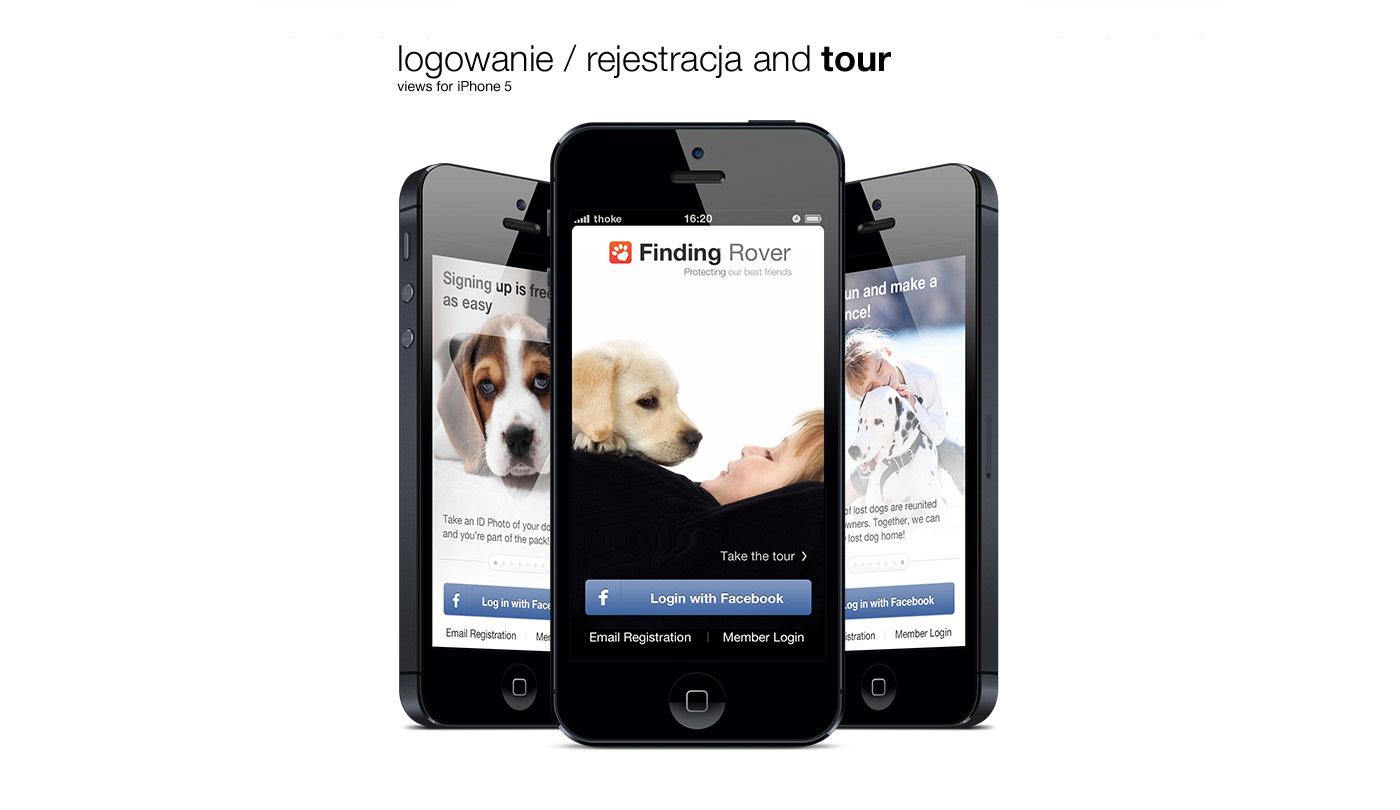 ios application iphone mobile mobi rover dog
