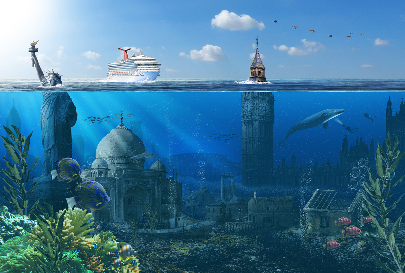 Underwater city by Daniel Sinoca on Behance
