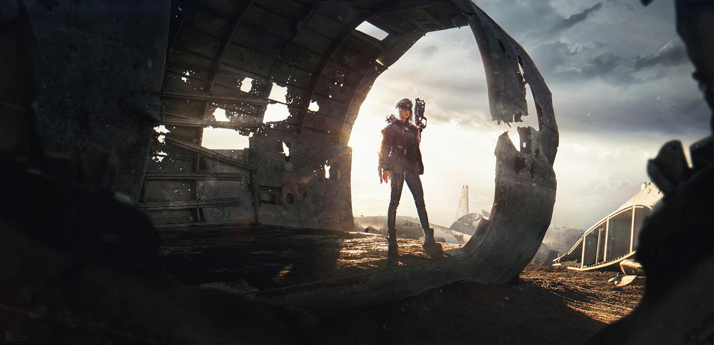 apocalypse conceptart Mattepainting postapocalypse postapocalyptic abandoned postapo ruin survival wasteland