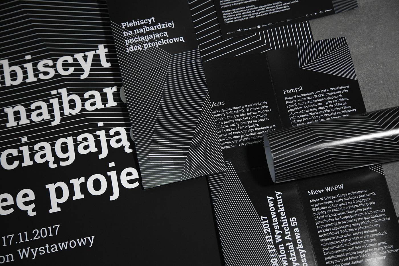 visual identity Event Gala poster mies+ wapw