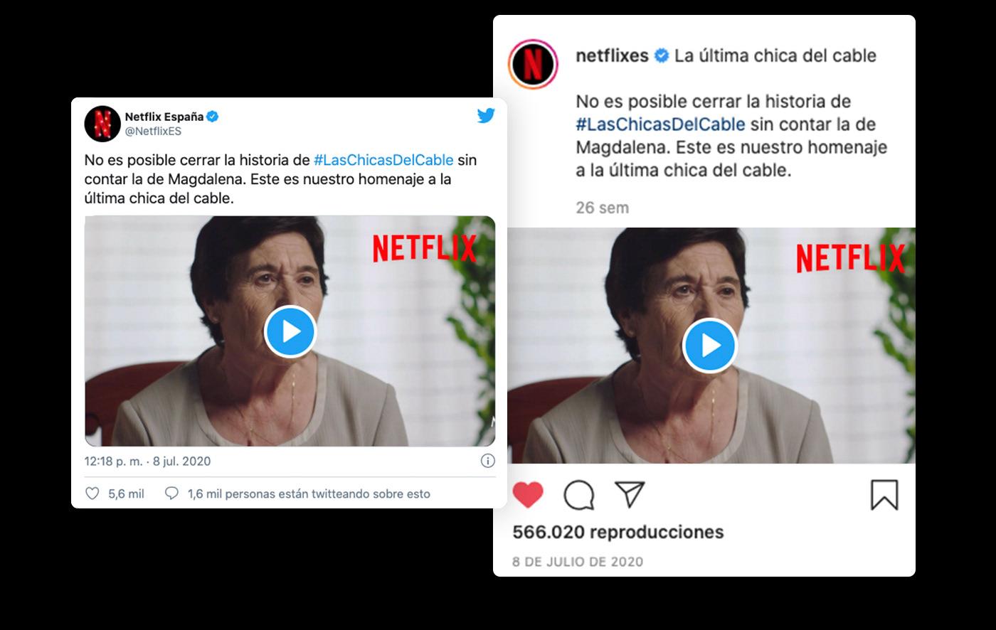 branded content campaing Entertainment las chicas del cable Netflix social media spain Spot video