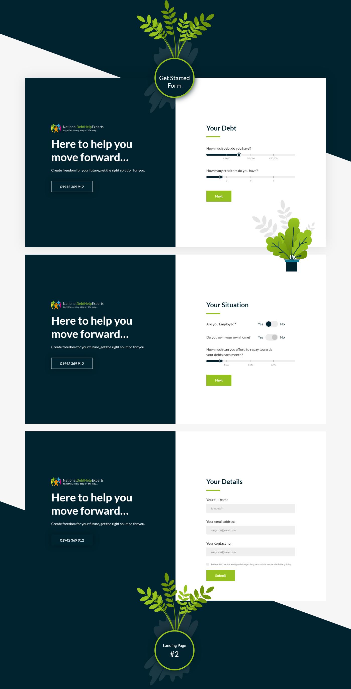 banking design finance landing One Page ui ux Webdesign Website