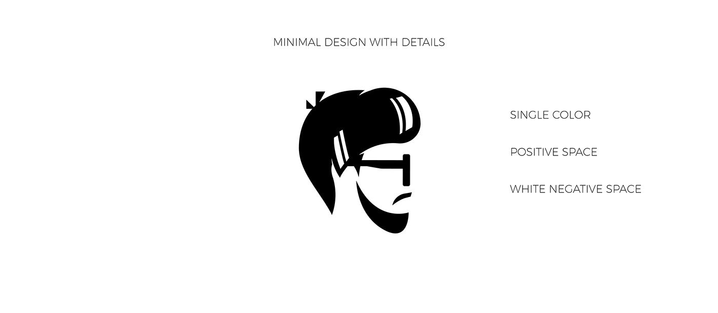 branding  semiflat flat design logo negative Space  Logo Design
