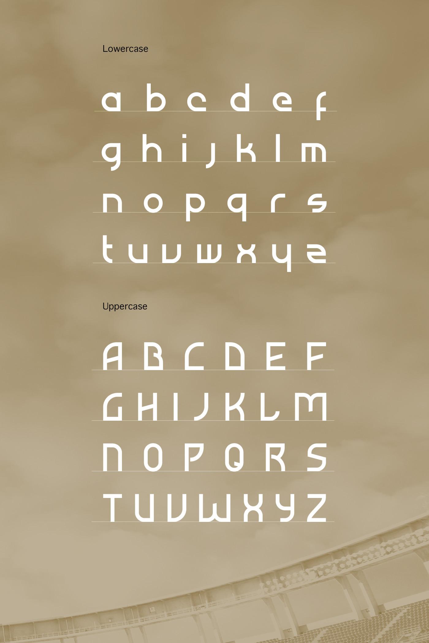 font Typeface Free font freebie atiba soccer sports sportive geometric typography