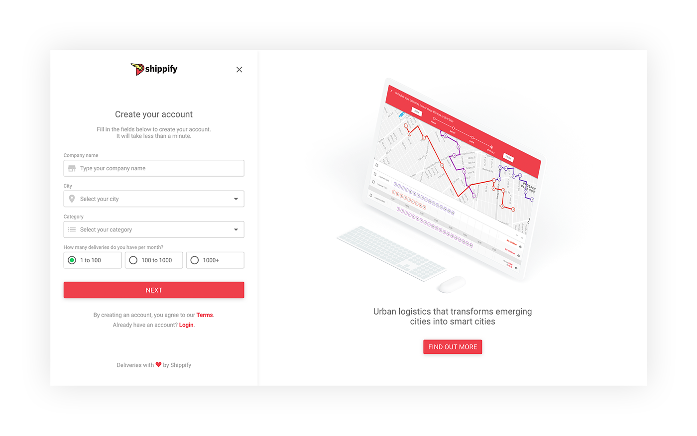 Adobe Portfolio shippify dashboard UI ux interface design user experience design system
