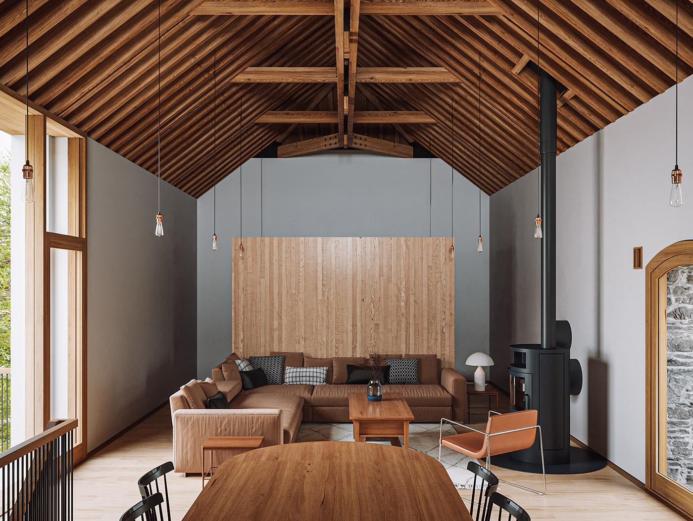 3D architecture archviz CGI corona render  Interior modern Render visualization vray