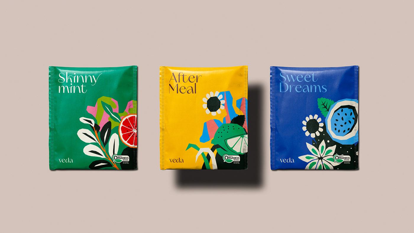 chá embalagem Packaging pattern tea adobe branding  Design de Embalagem design gráfico packaging design