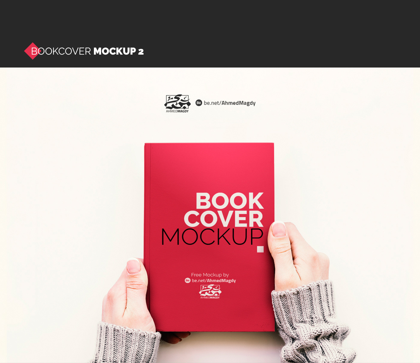 Mockup bookcover book mockup psd book in hand girl hands cover mockup free