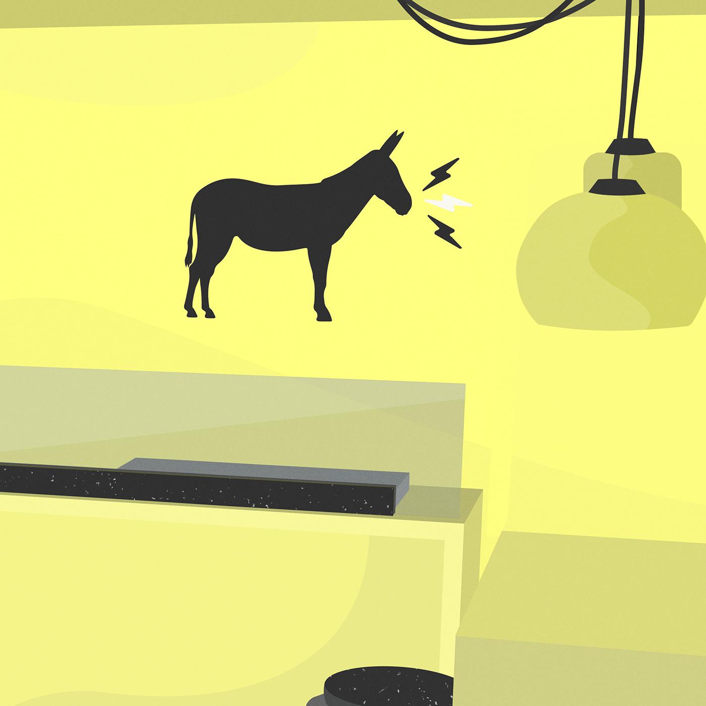 Image may contain: cartoon, animal and horse