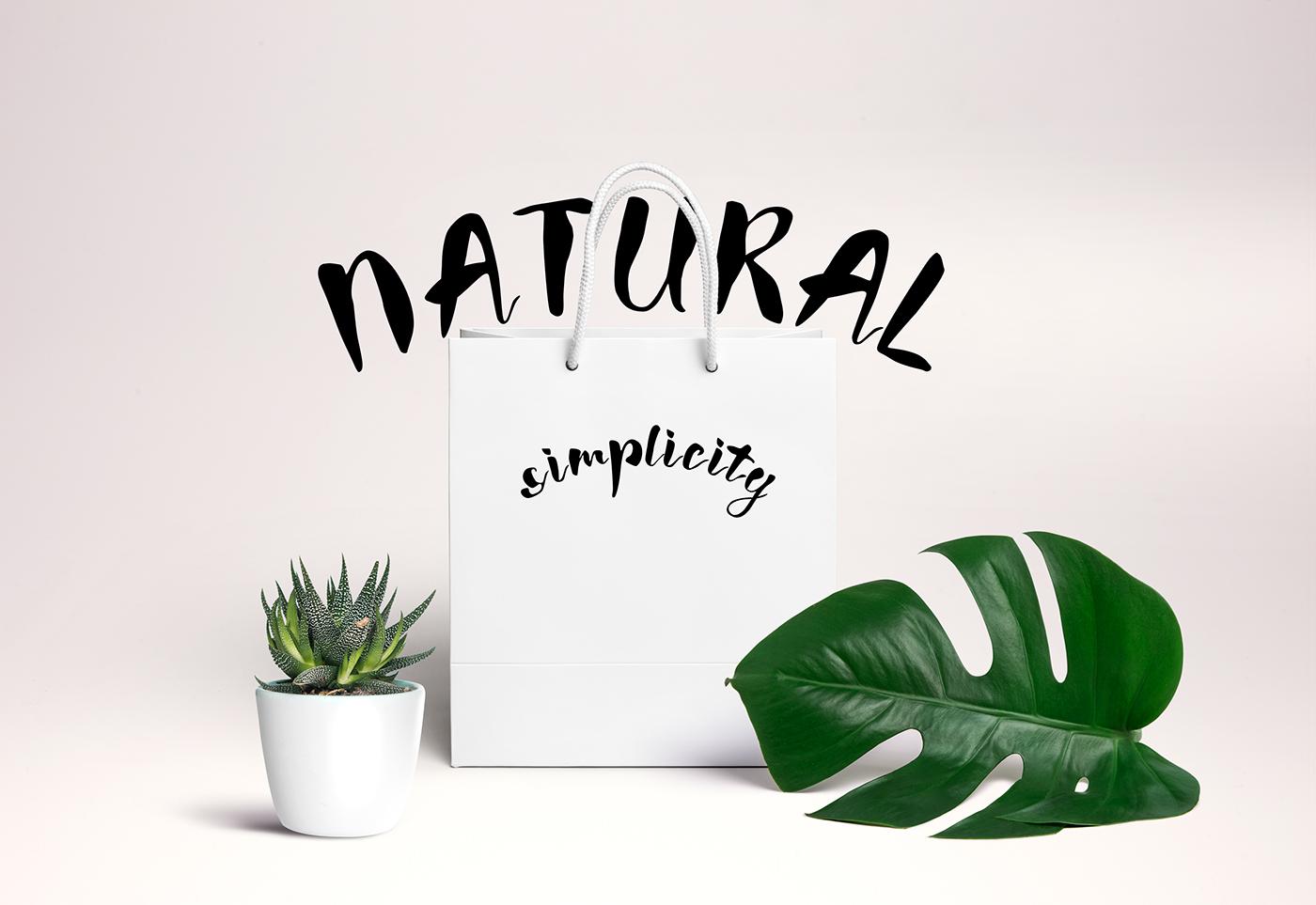 font wish lettering handmade typography   creative branding  Nature design inspiration