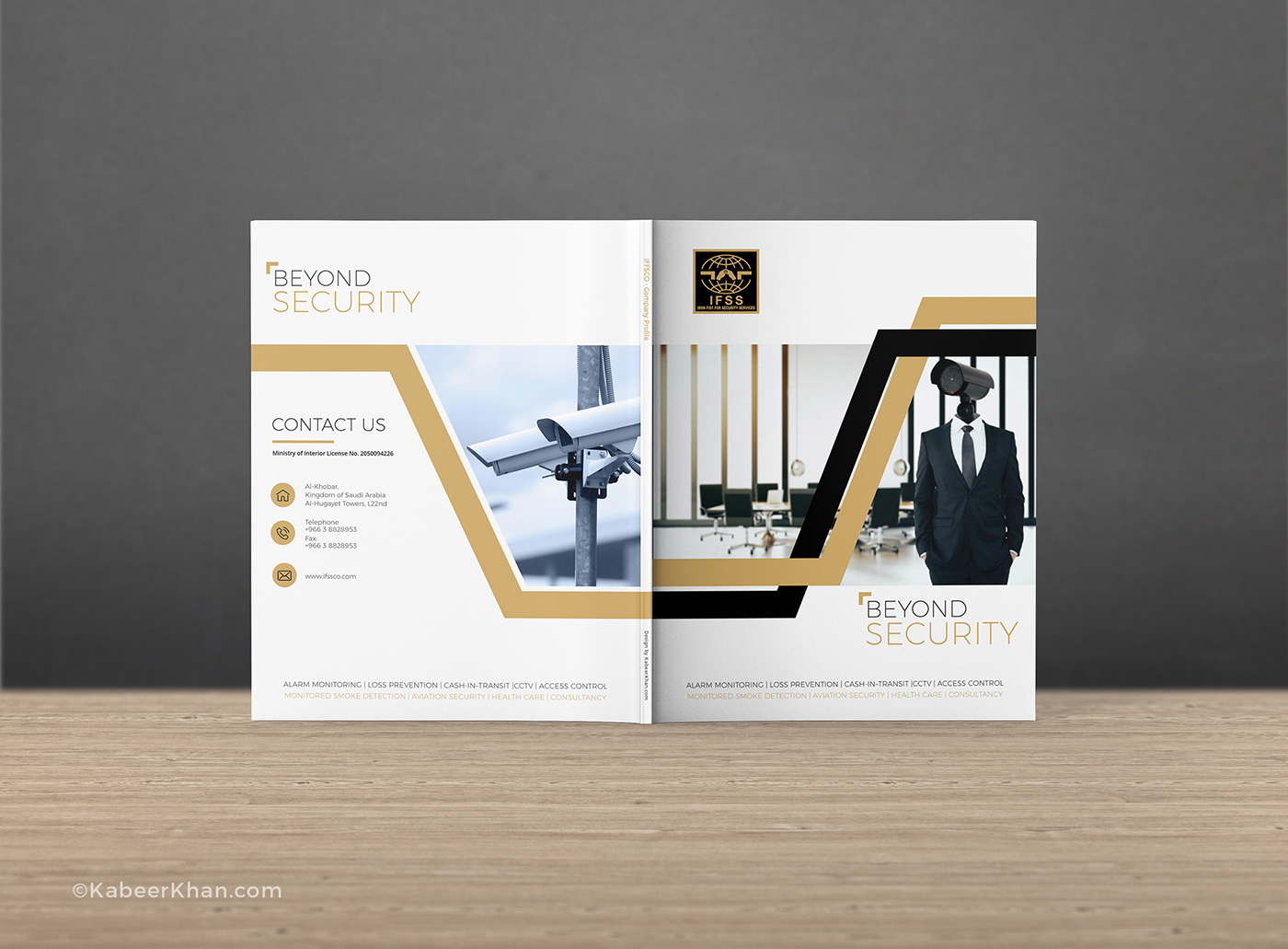 security agency profile cover design