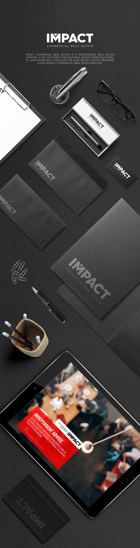 saeed elgarf impact commercial real estate design logo egypt creative Clean Design black real estate