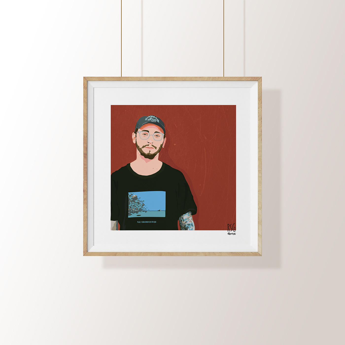 ILLUSTRATION  music portrait poster