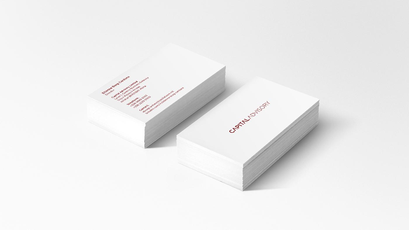 branding  redorange identity malta stationary