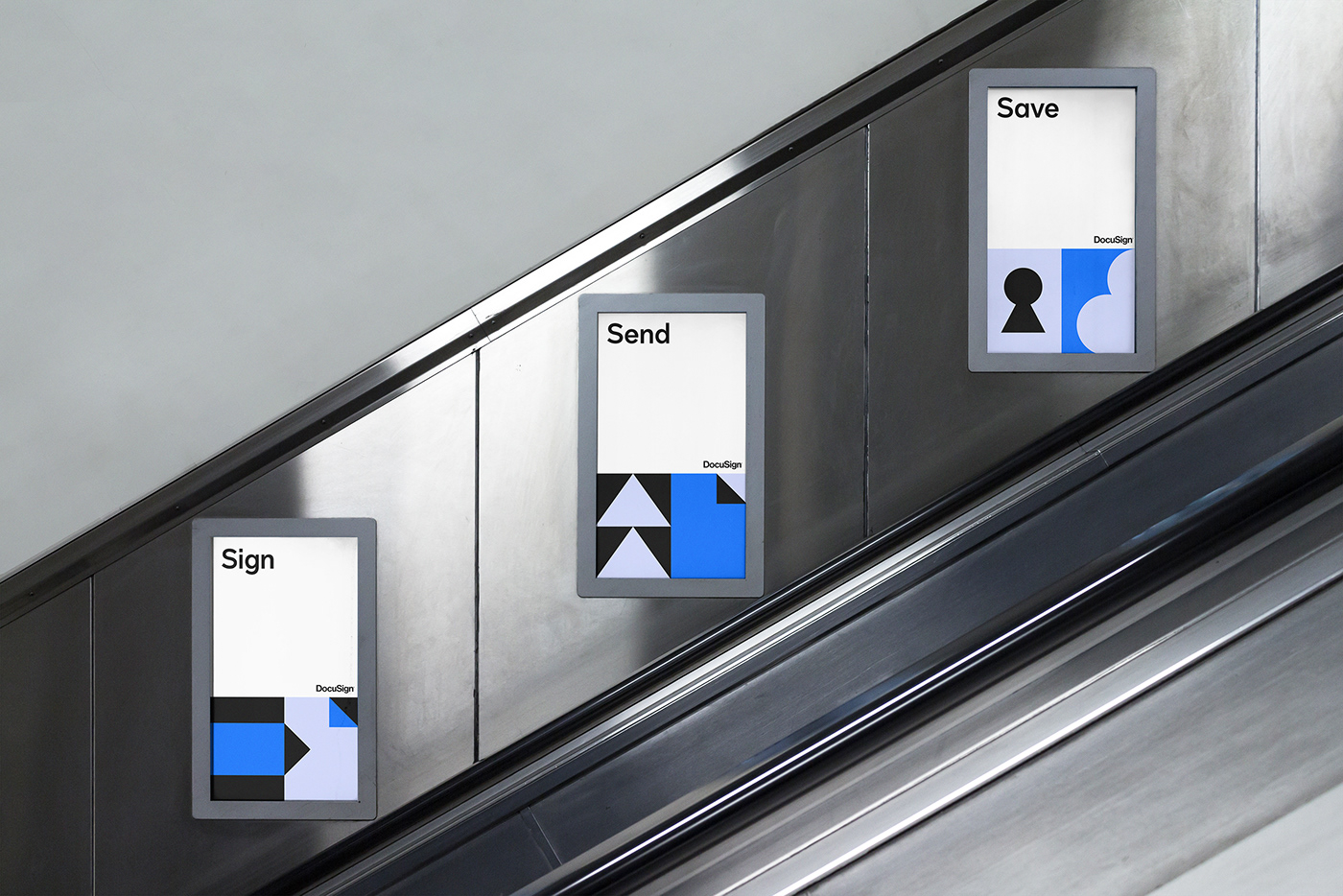 branding  DocuSign graphic grid Icon modular posters system UI ux