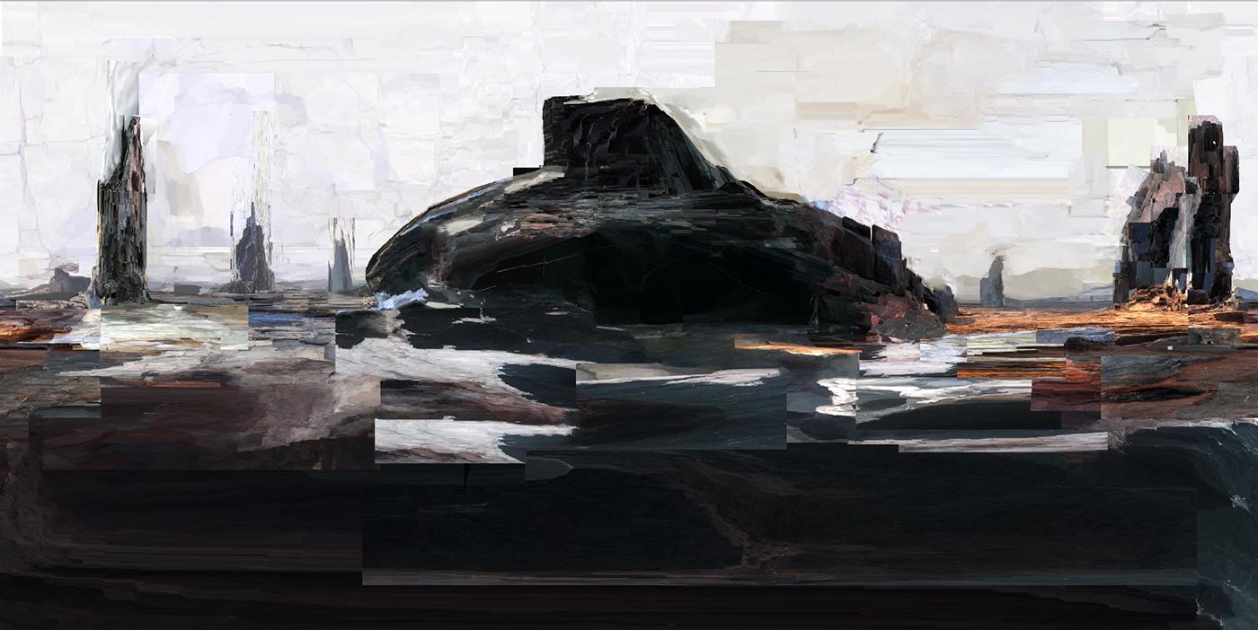 art ILLUSTRATION  Landscape digital pareidolia 360degree Virtual reality spherical panorama