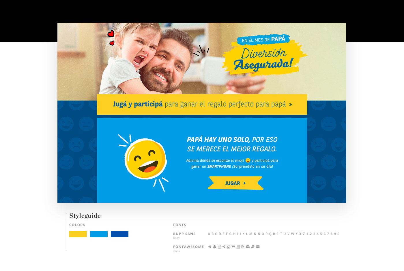 BNPP Paribas Cardif landing page Web Design  game blue