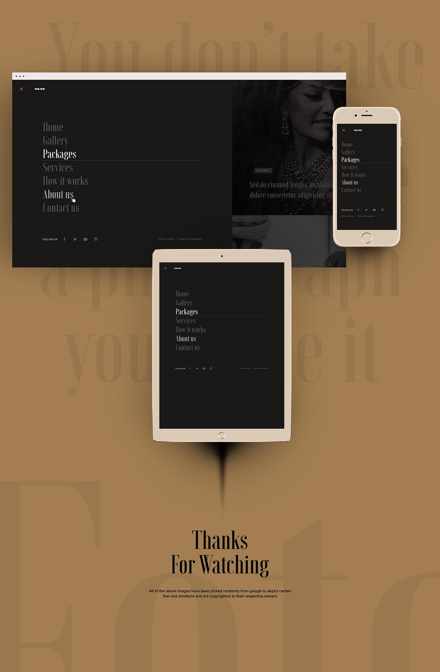 art direction  UI ux Website wedding studio graphic design  ui design Website Design indian wedding