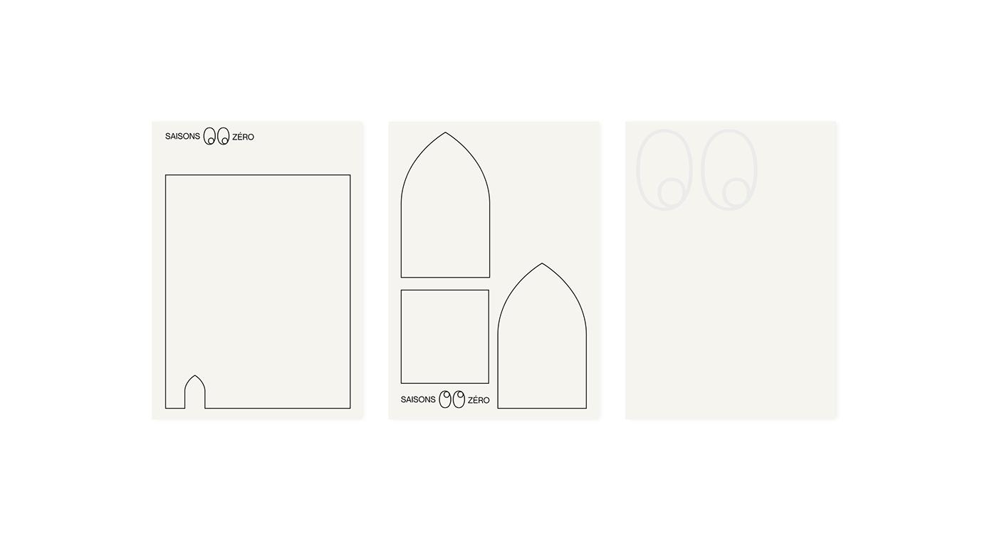 identity Signage branding  minimal card logo