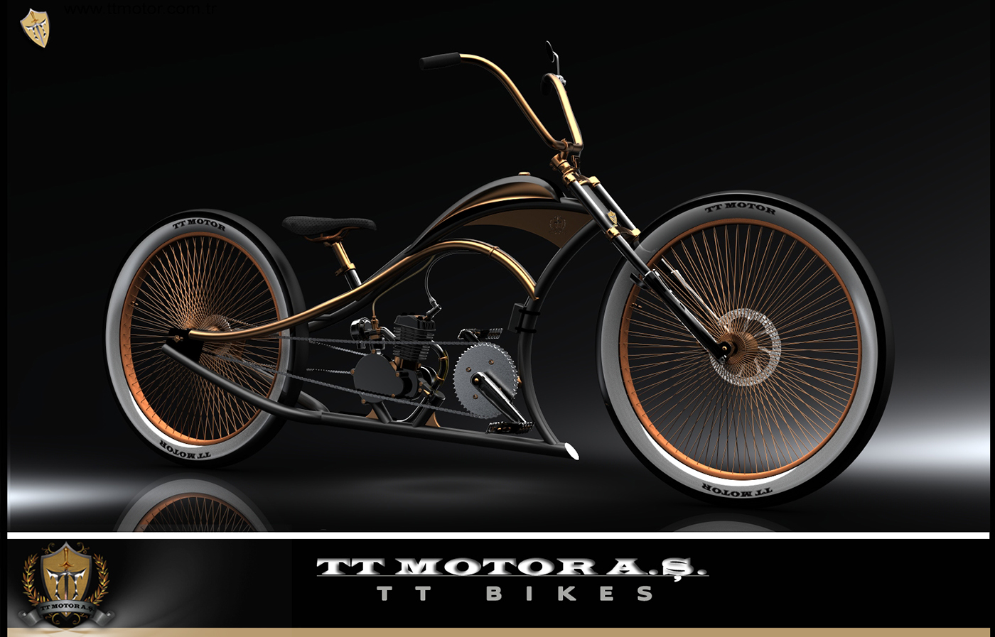 Custom lowrider bicycles