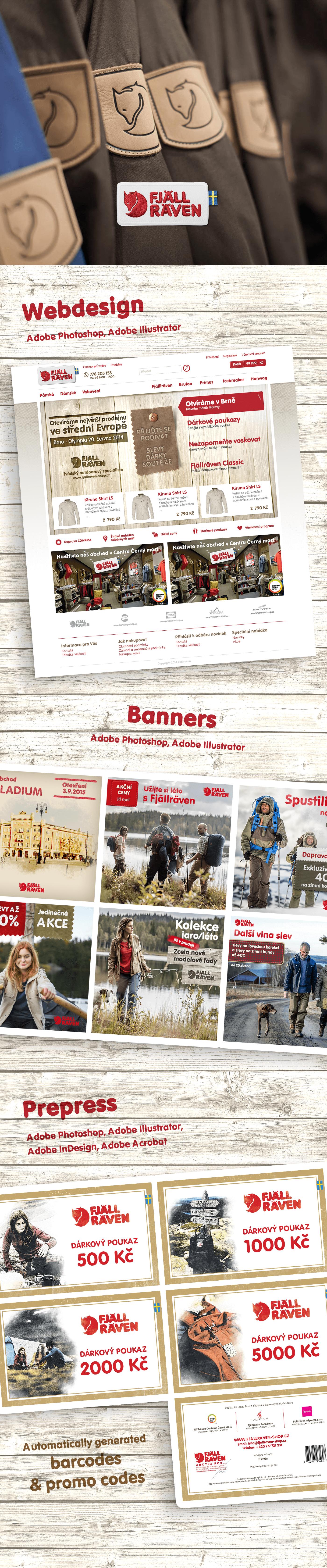 Adobe Portfolio eshop Webdesign prepress vector banners
