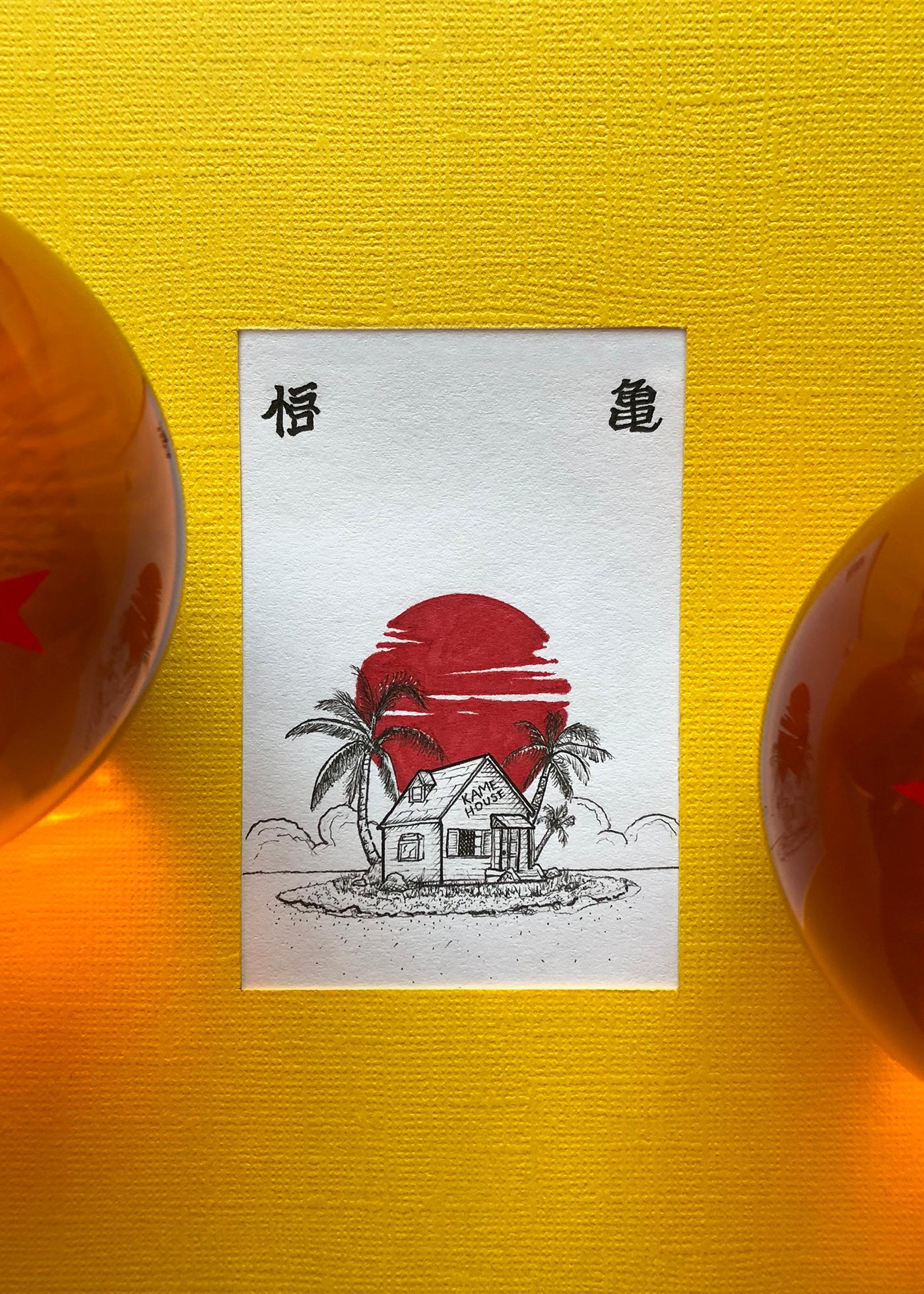 dragon ball z illustrations mini series on behance