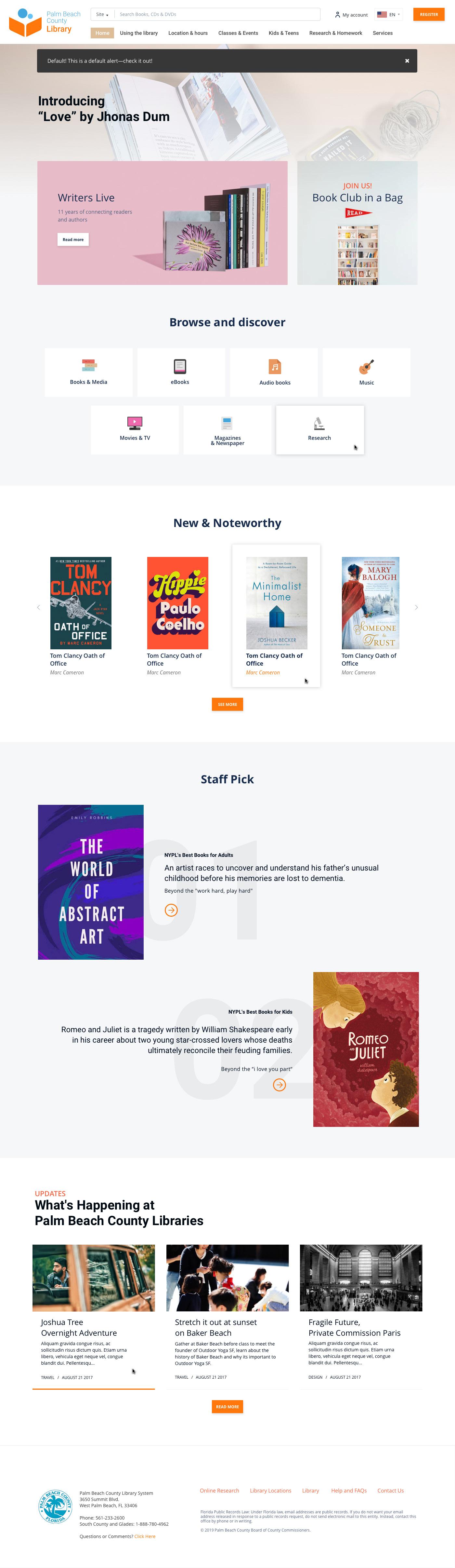 Case Study public library site registration for Web Design  books redesign branding  logo
