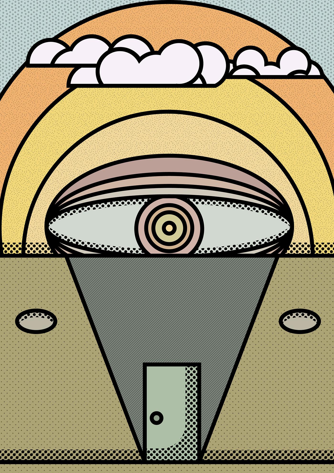 vector ILLUSTRATION  Illustrator inspiration world fictional editorial Zine  book issue