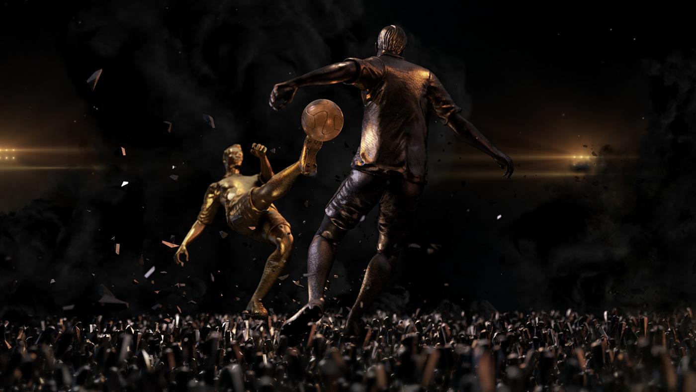 football,soccer,art direction ,game,motion graphics ,branding ,Film  ,advert,cinema4d,after effects