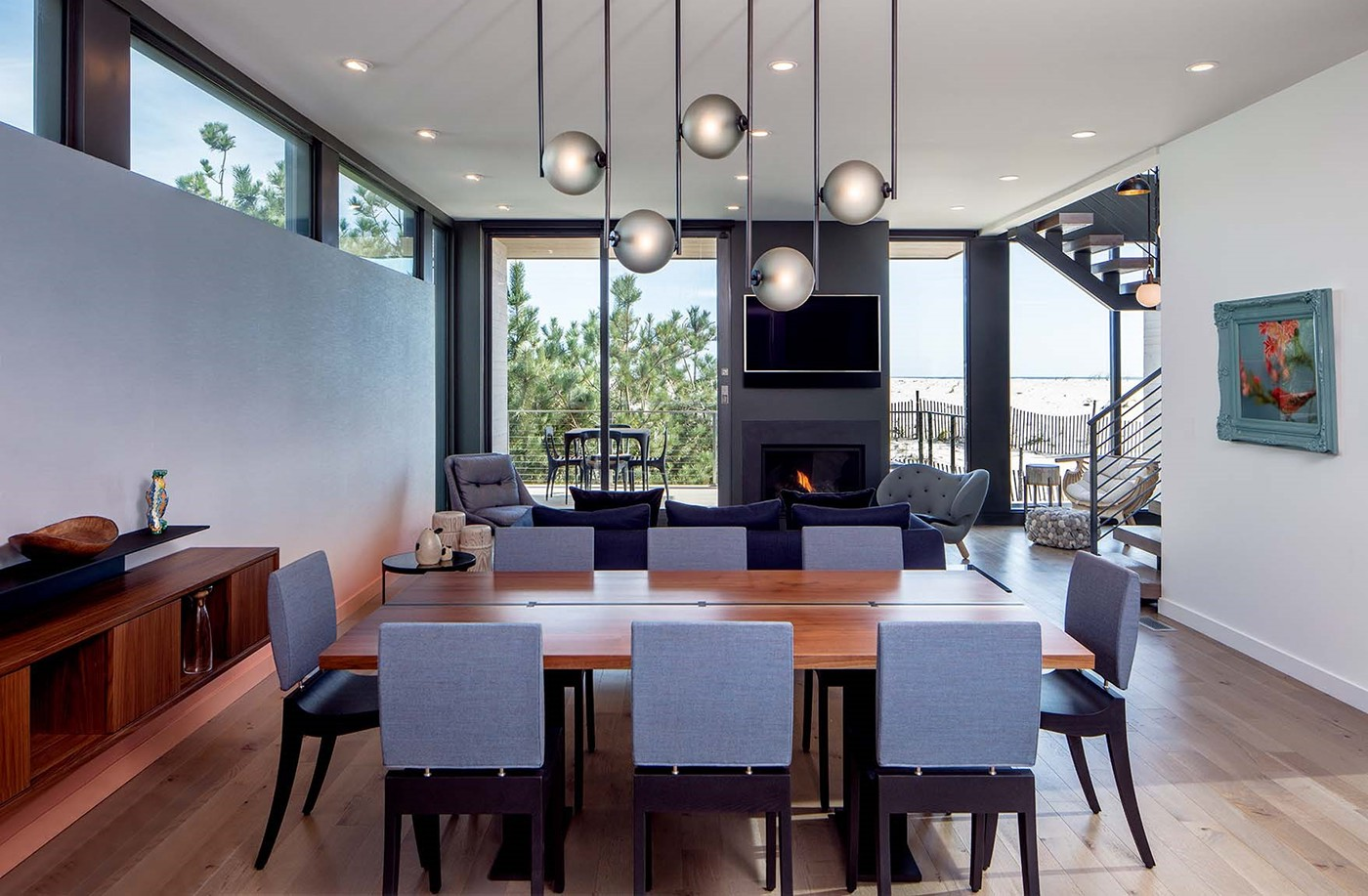 Beach Haven Residence Dining Area | Long Beach Island, NJ By Specht  Architects. Photography: Taggart Sorensen.