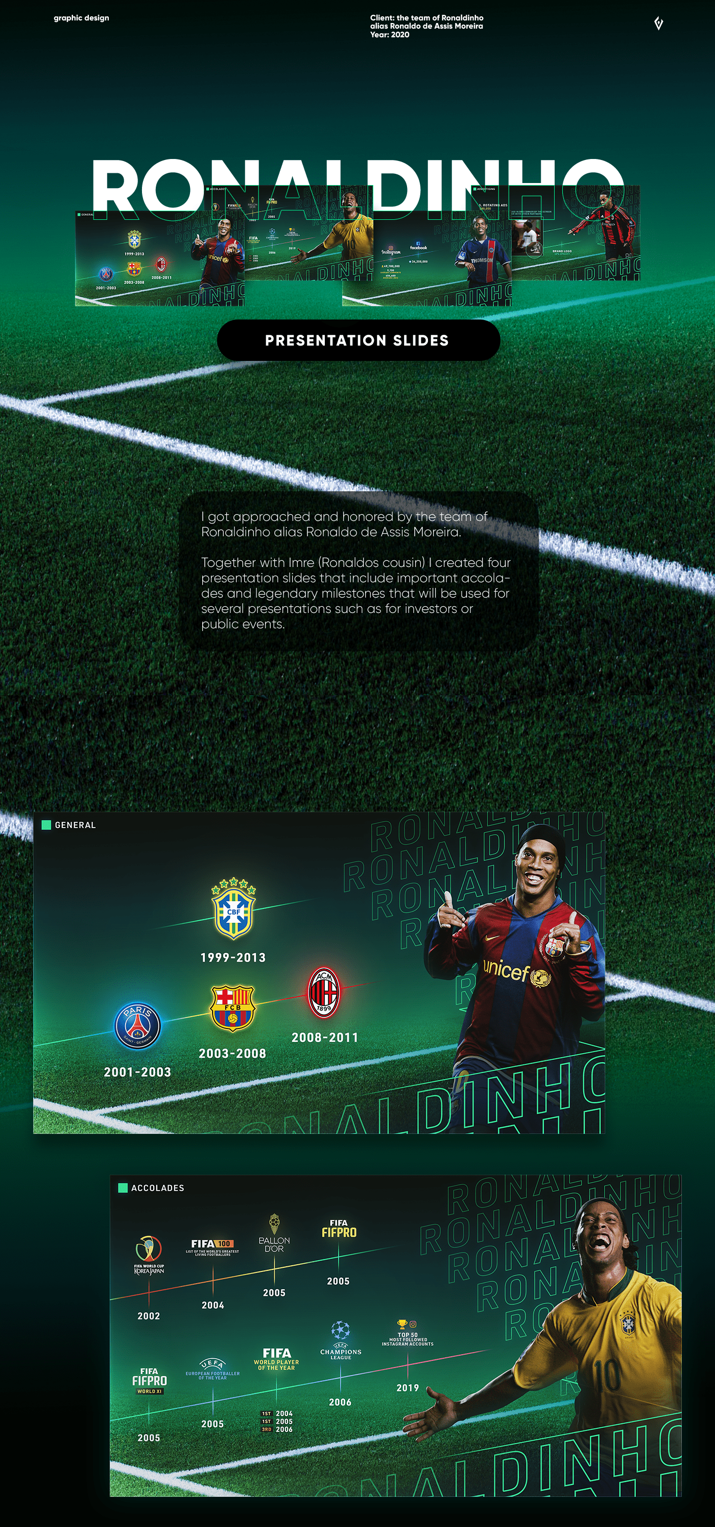 Brazil football graphic design  presentation ronaldinho slides soccer