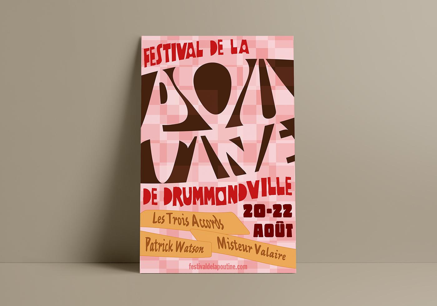 festival poster affiche poutine drummondville
