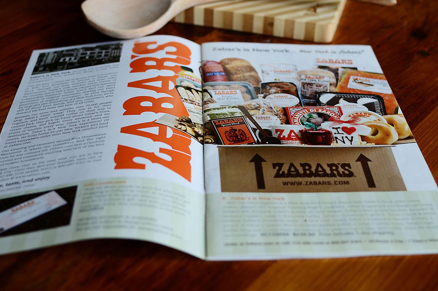 Inside of Zabar's Catalog