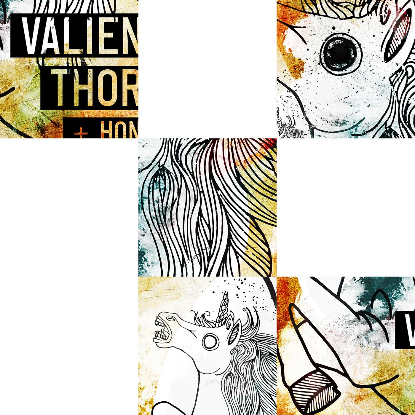 valient thorr HONKY poster berlin unicorn grunge dirty music