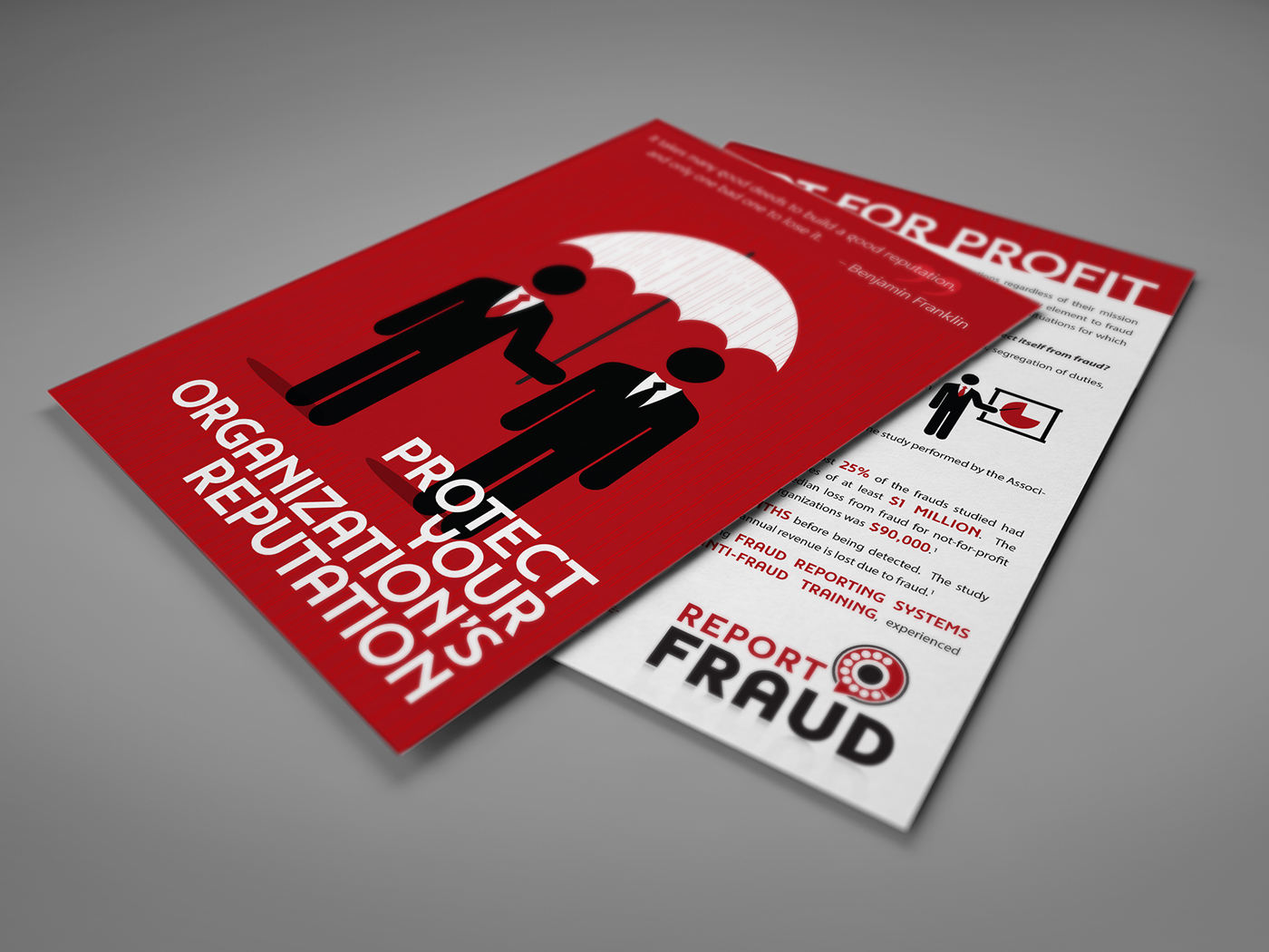 Report Fraud Not For Profit Sales Card On Behance