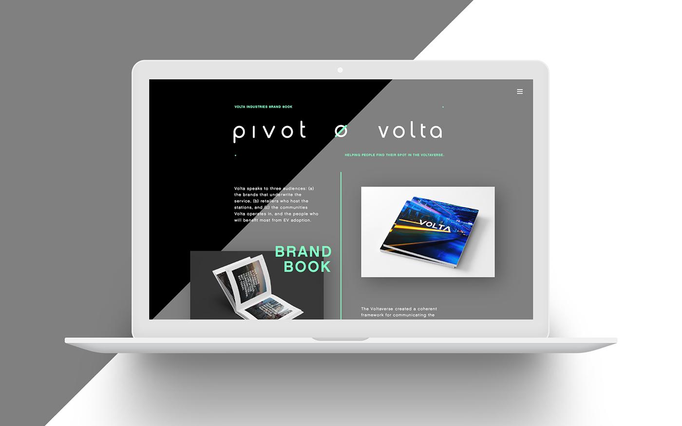Pivot brand branding  logo mark 3D c4d cinema 4d Mockup