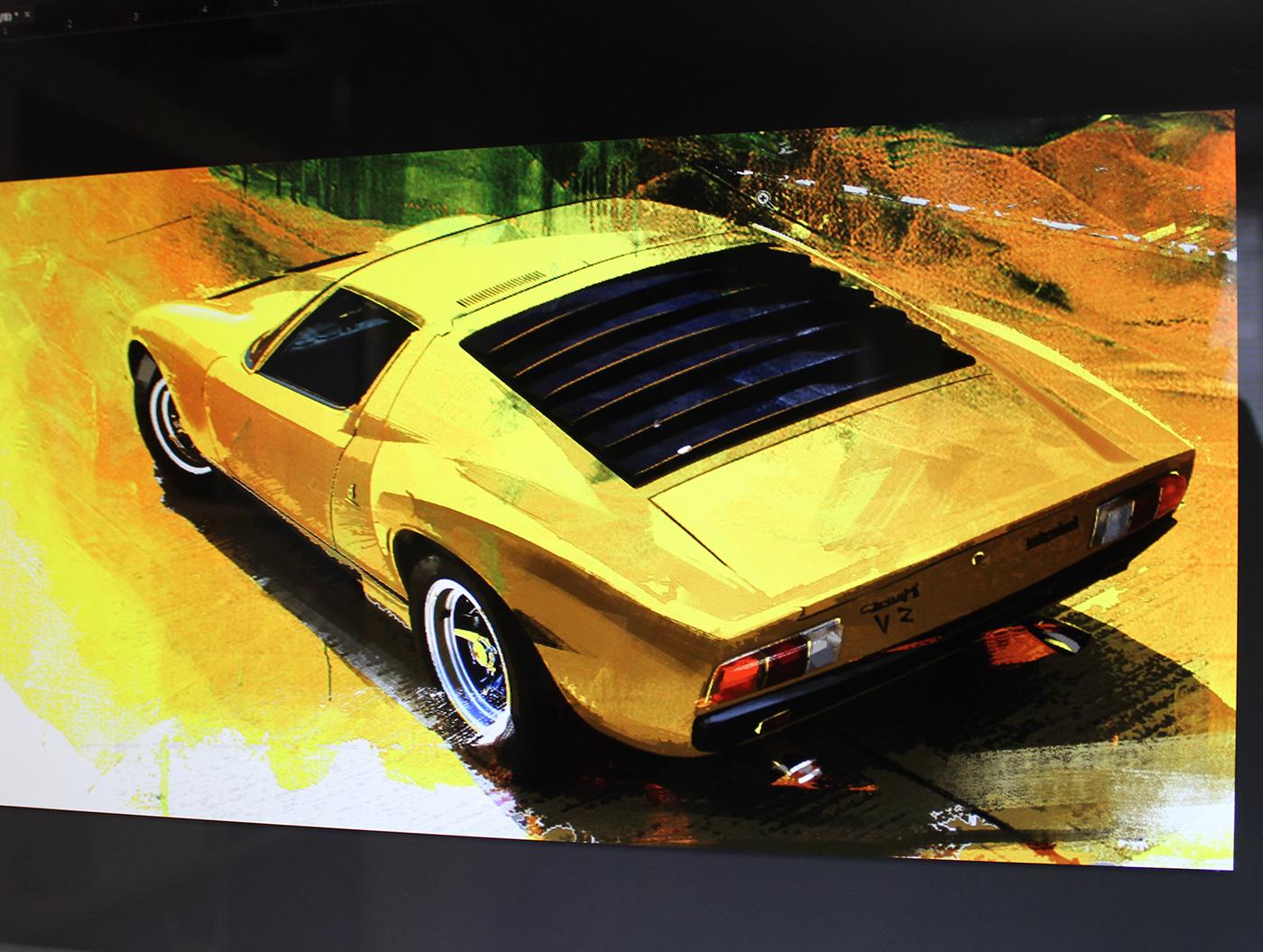 Automotive art on Behance