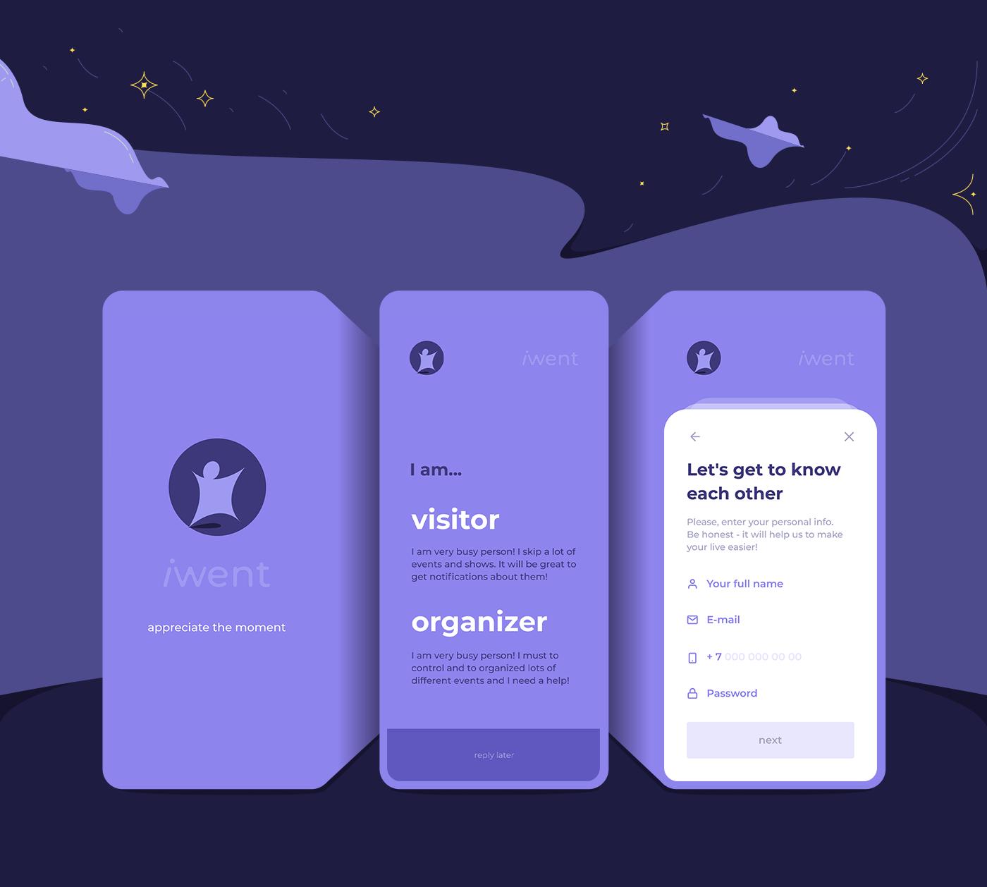 app flutter Event mobile meeting Startup ILLUSTRATION  Character ux UI
