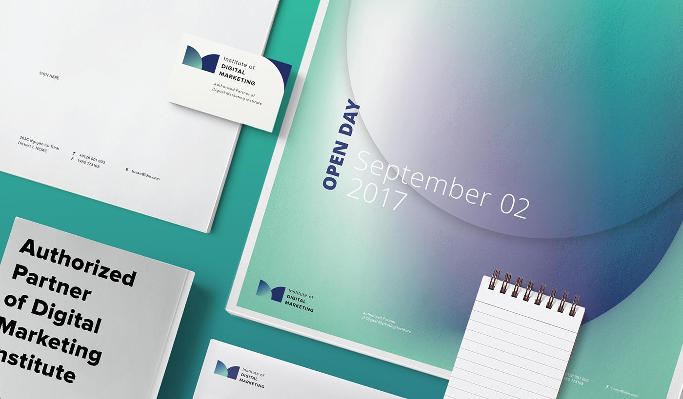 vietnam hcmc branding  graphic design  identity Education tri digital marketing   logo