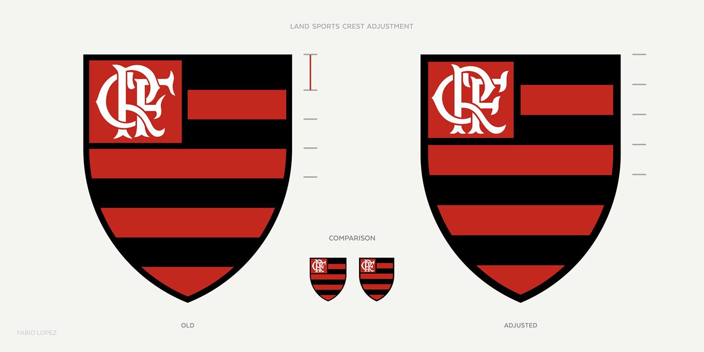 football flamengo soccer visual identity brand graphic design  typography   sports crest brazillian football