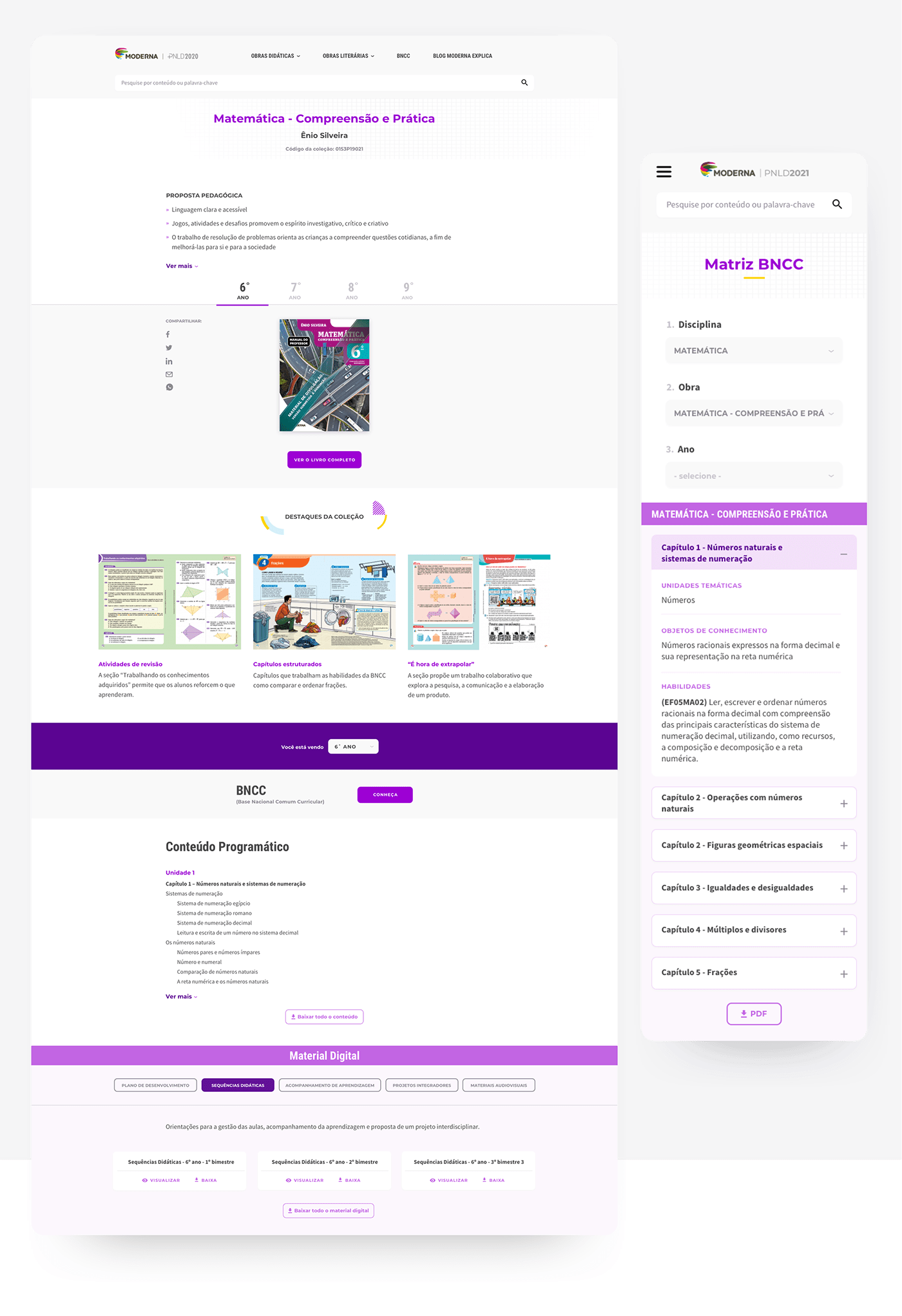 digital textbooks educational brand educational content middle school Modern flat publishing house website Responsive Design schoolbooks textbook resources website redesign