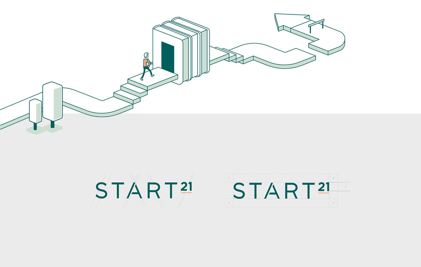 branding  design ILLUSTRATION  brochure Layout typography   logo Eductional Program sketches