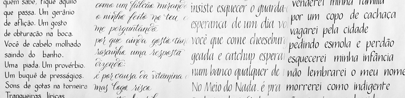 hand writing lettering Poetry  poesia caligrafia Exhibition  Exposição