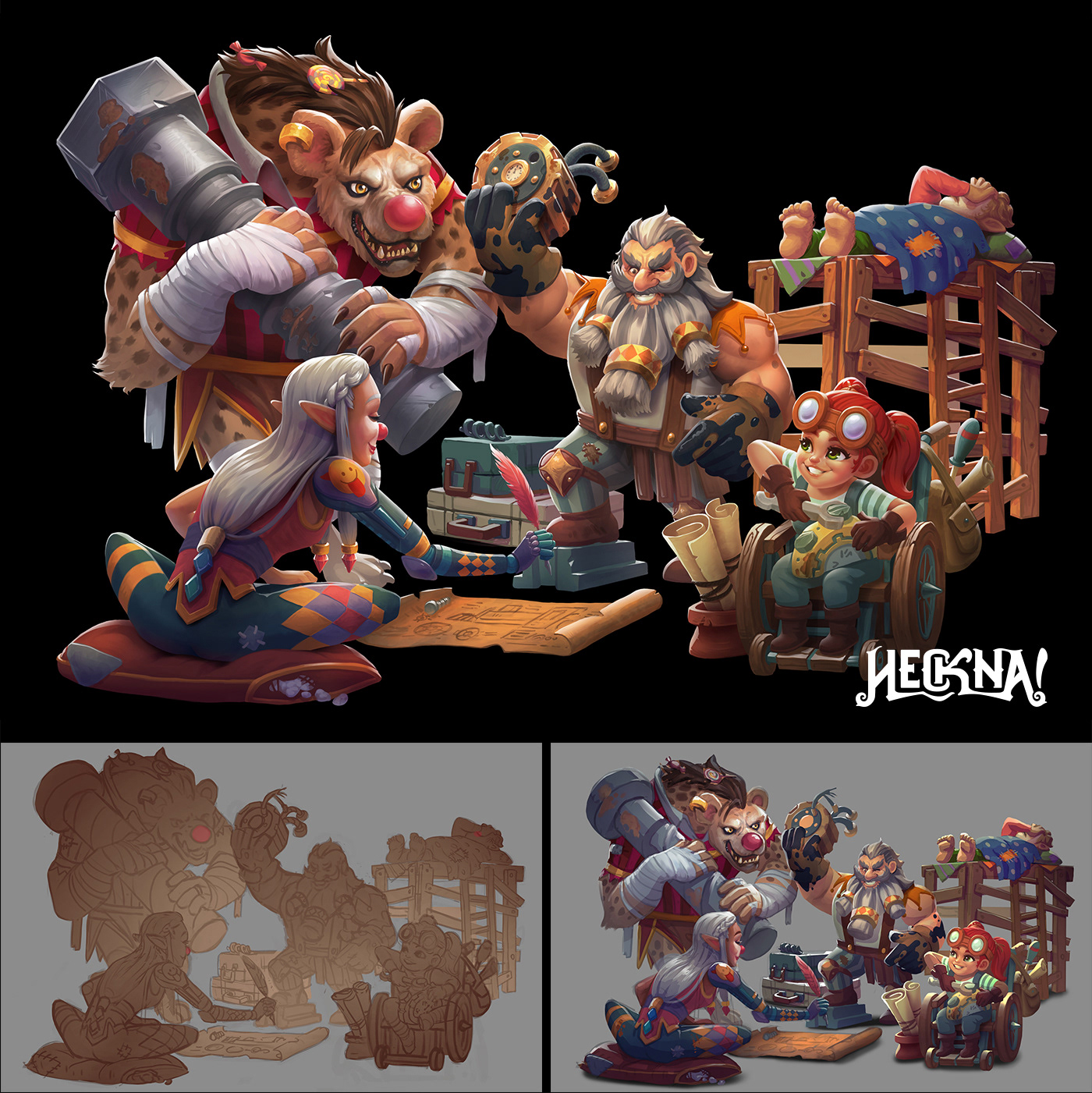 artwork Character Character design  concept art Digital Art  dnd fantasy ILLUSTRATION  Environment design fantasyillustration