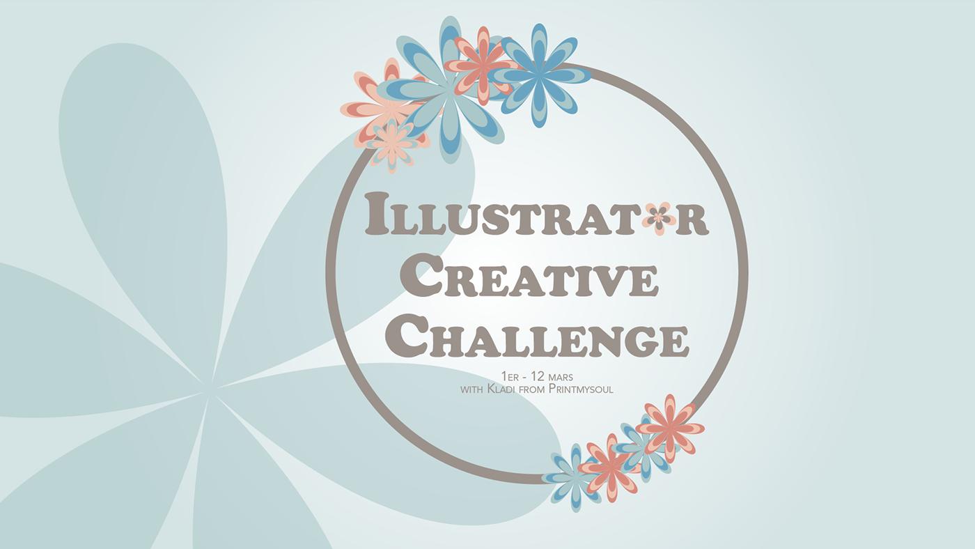 aicreativechallenge adobe blue creativechallenge design graphic Illustrator pink