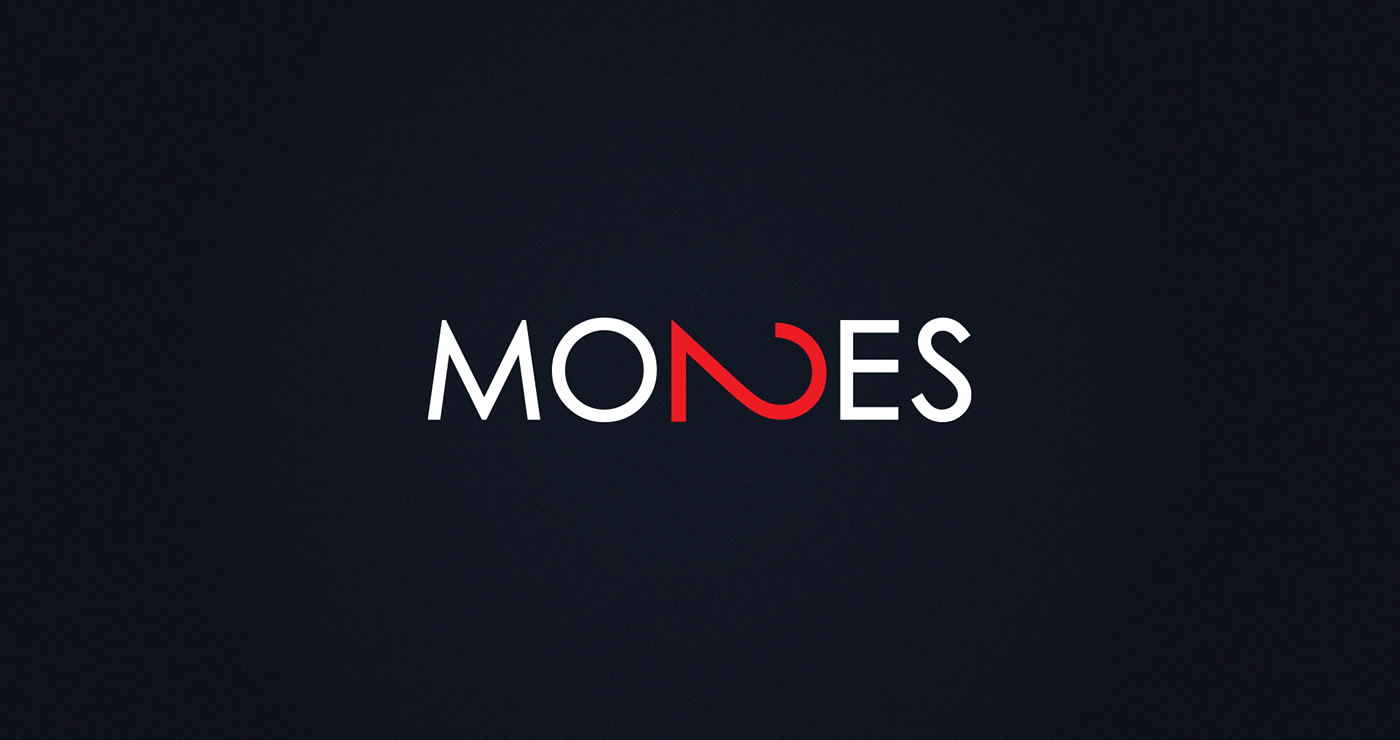 2 Mondes | White and red logo